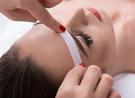 Facial waxing services for brow, lip, chin and more at Salon Bumbi in Elkins, WV